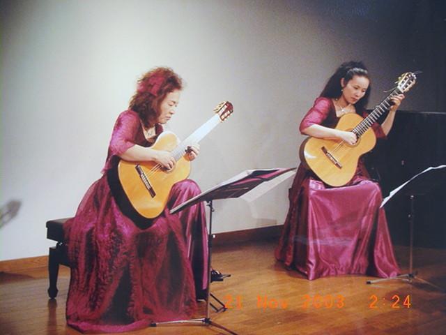 2003年10月23日 マリア・デュオ結成記念コンサート(写真の日付は間違いです)