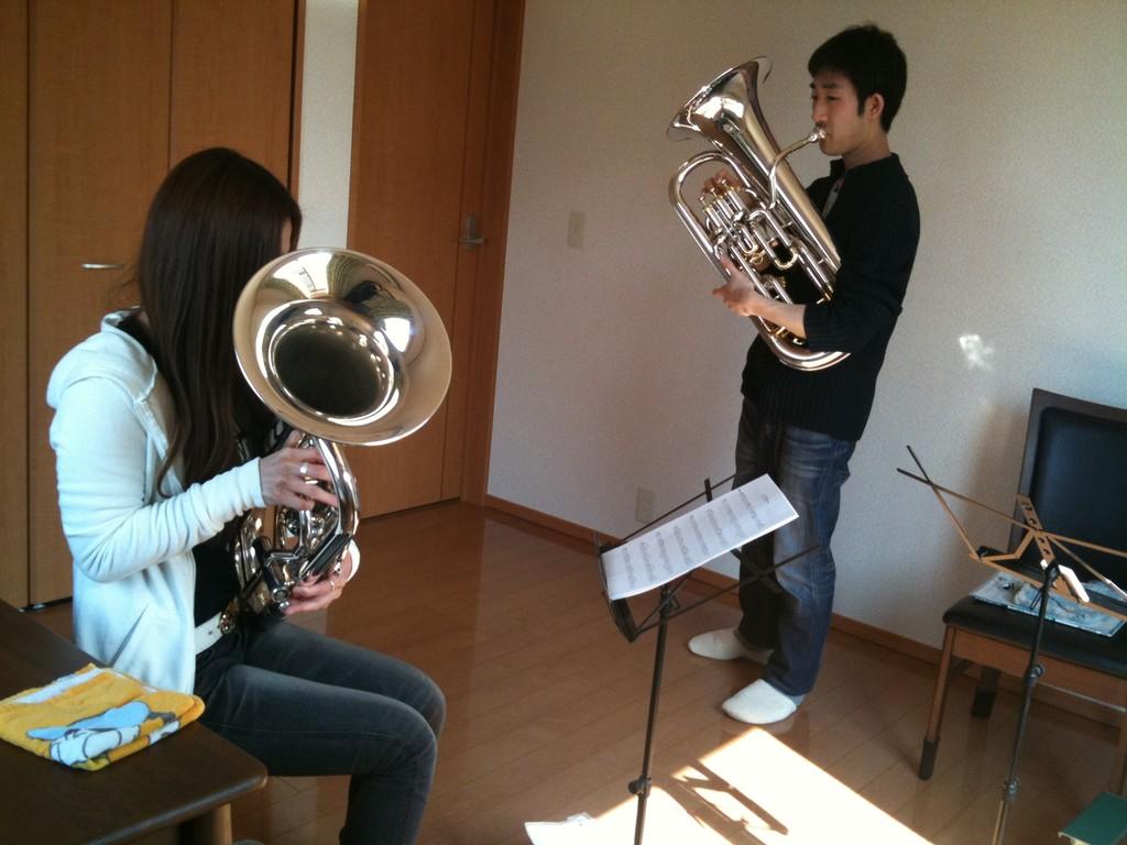 2011 3月9日 ユーフォニアム初レッスン!! 大谷教室