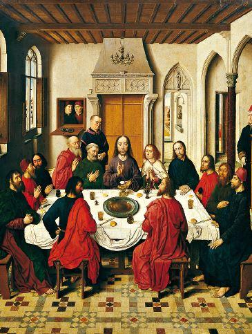 Retablo de la eucaristía, de Dirk Bouts.