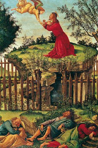 La oración del huerto, de Botticelli.
