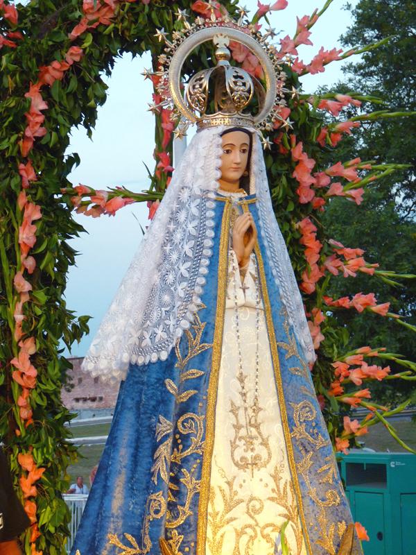 La Virgen de Itatí en Arzobispado de Corrientes.