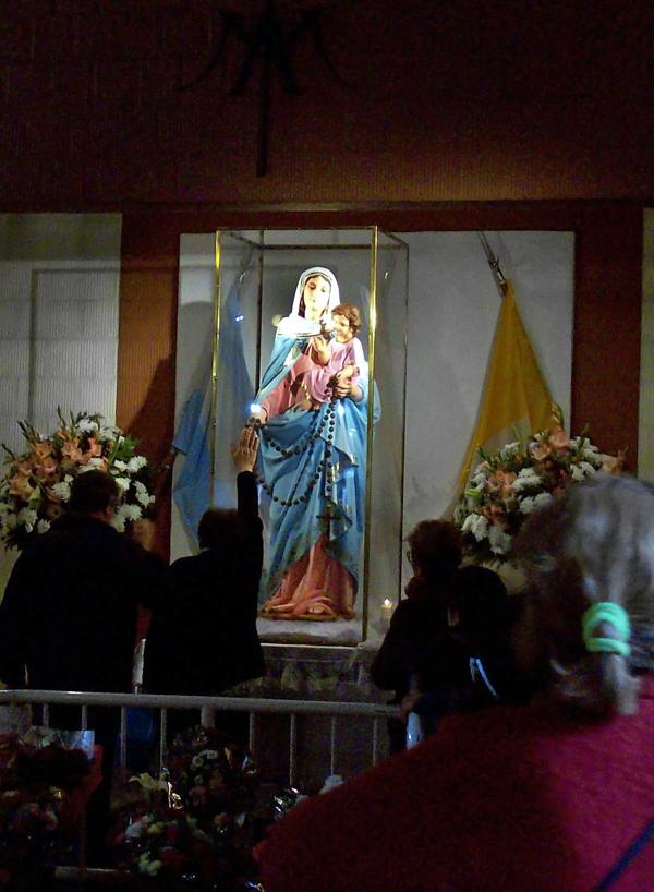 Nuestra Señora del Rosario de San Nicolás, en el santuario que se construyó en su honor.