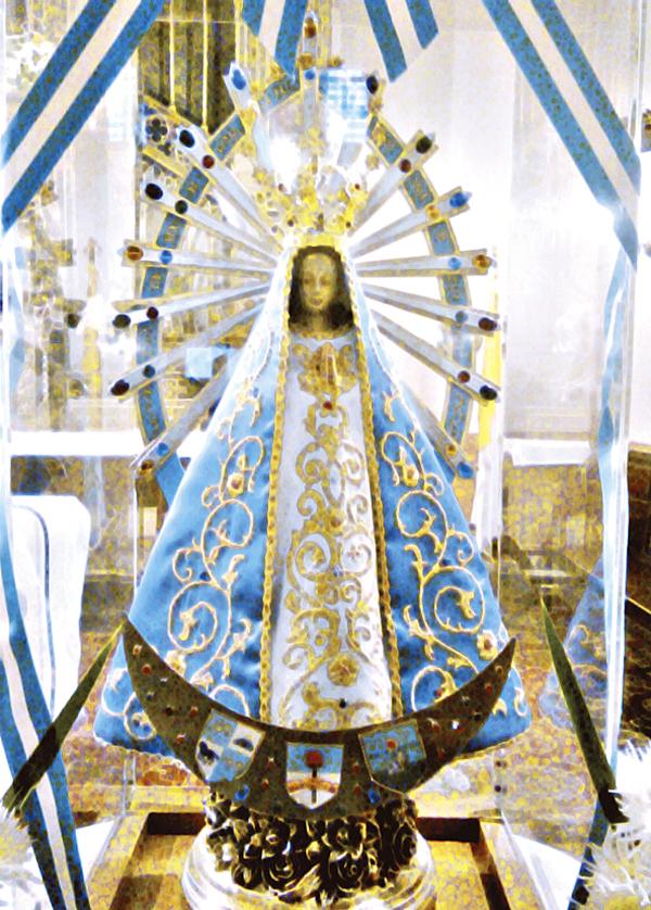 Reproducción de Nuestra Señora de Luján.