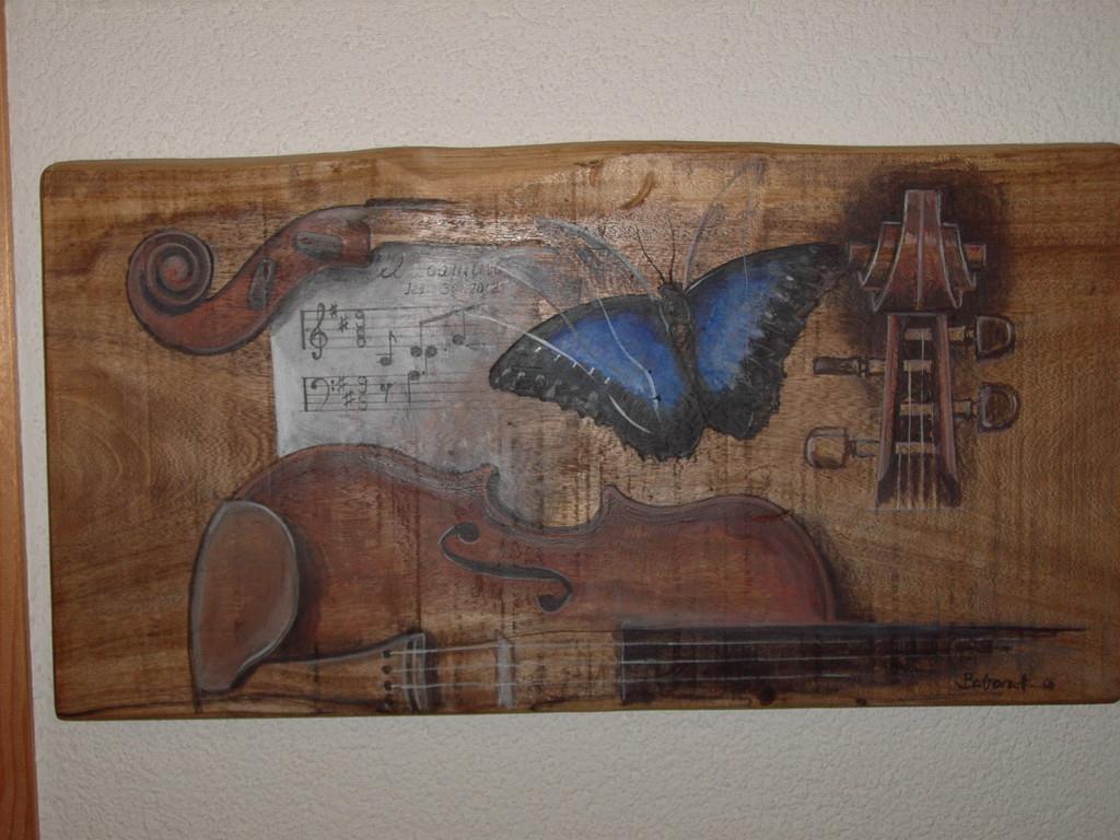 Acryl auf Holz