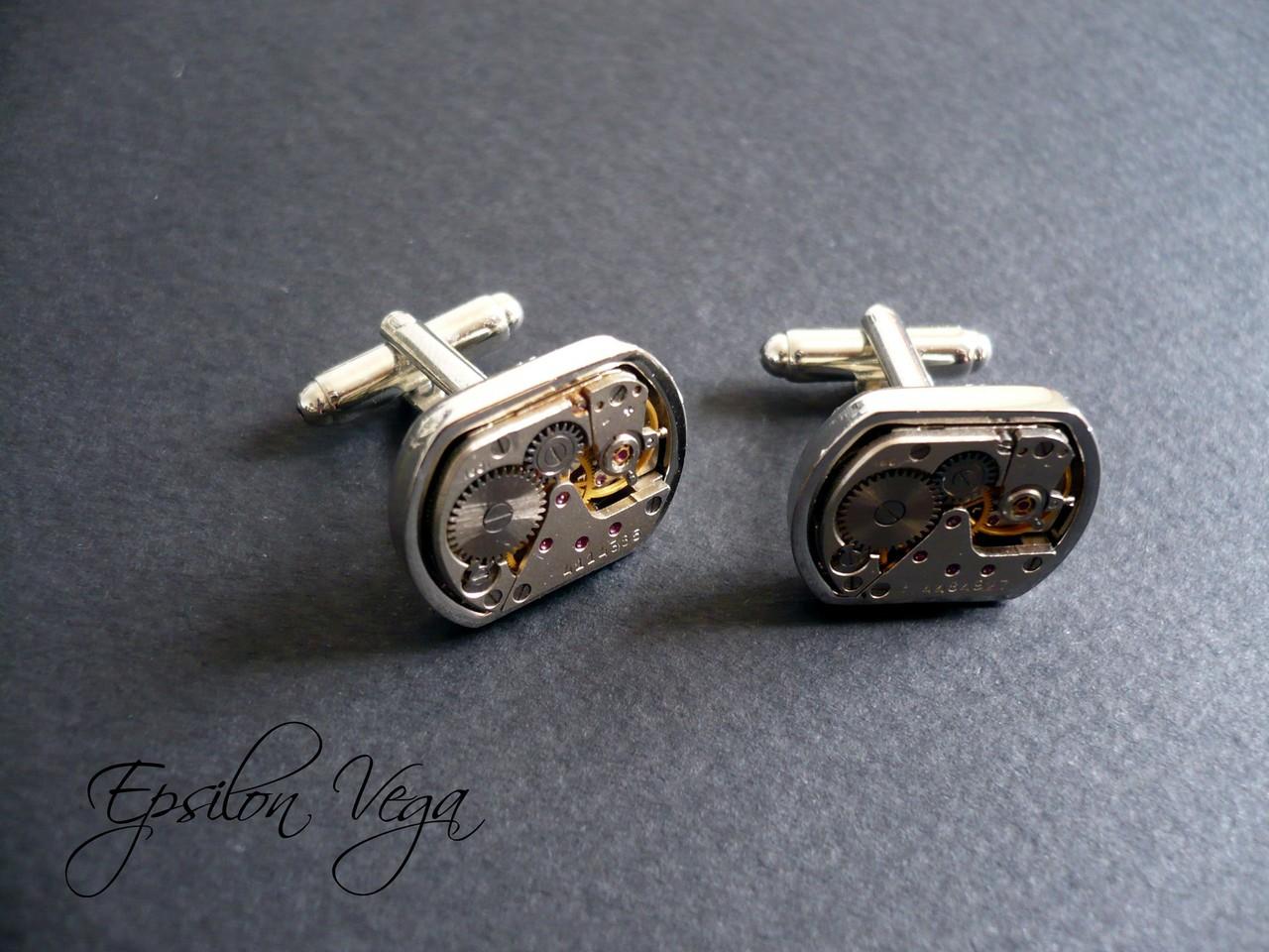 boutons de manchette epsilon vega bijoux rouages steampunk. Black Bedroom Furniture Sets. Home Design Ideas