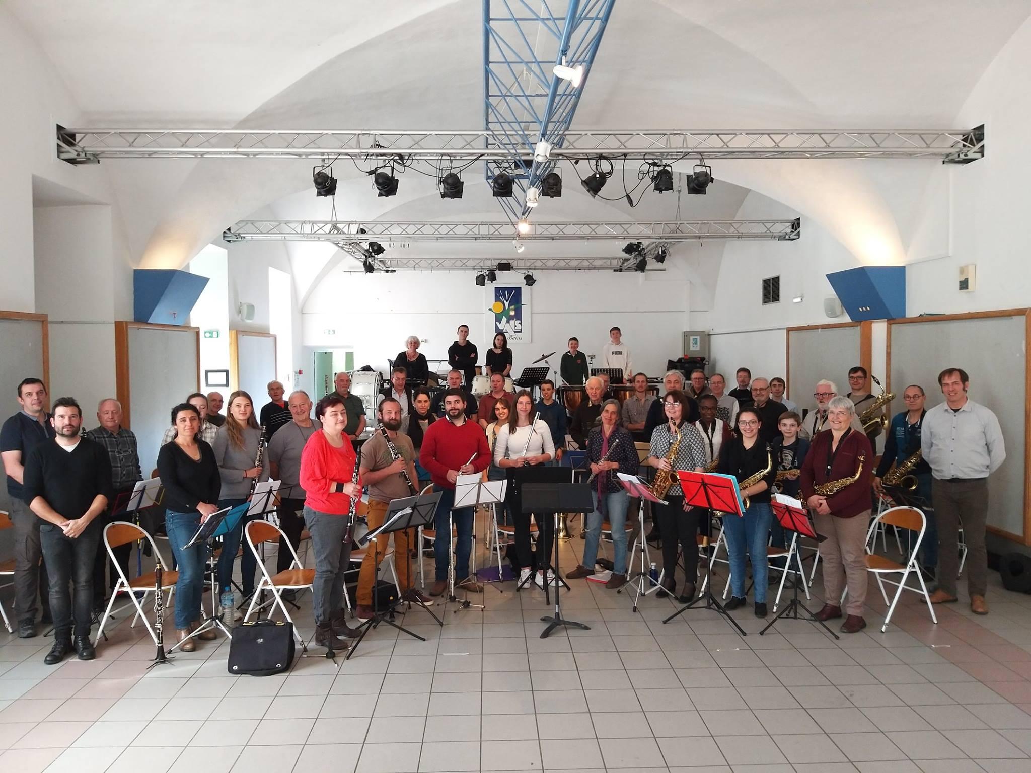 à Vals-les-bains avec l'orchestre de Bourg-lès-Valence Pour notre concert du 13 avril 2019
