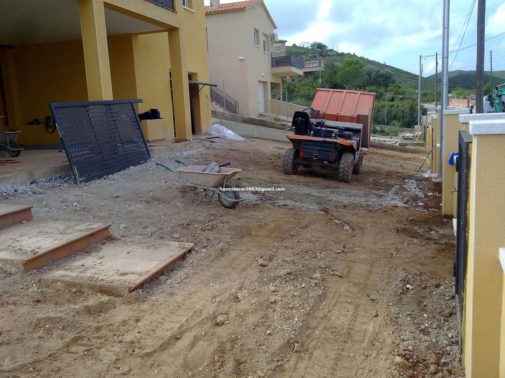 Antes y despues pavimentos de hormigon impreso pays for Pavimento de hormigon tarragona