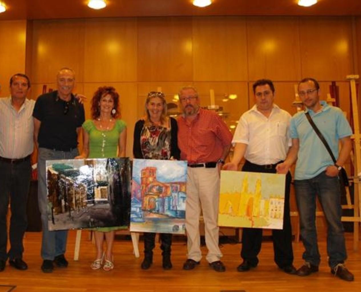 Pintura...Marian Saralegui, Joserra Estebanez, Mª Marrodan, Juan Bernabé, Juanito, Lopez Garrido...