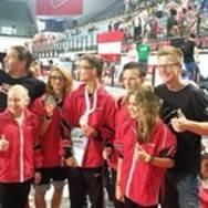 Von Links: Sabine Dieber 5 Platz Vany Palzer 3 Platz, Bronze  Philip Pollheimer 2 Platz, Vize Weltmeister Dominik Pollheimer 9 Platz Katharina Mixner 5 Platz