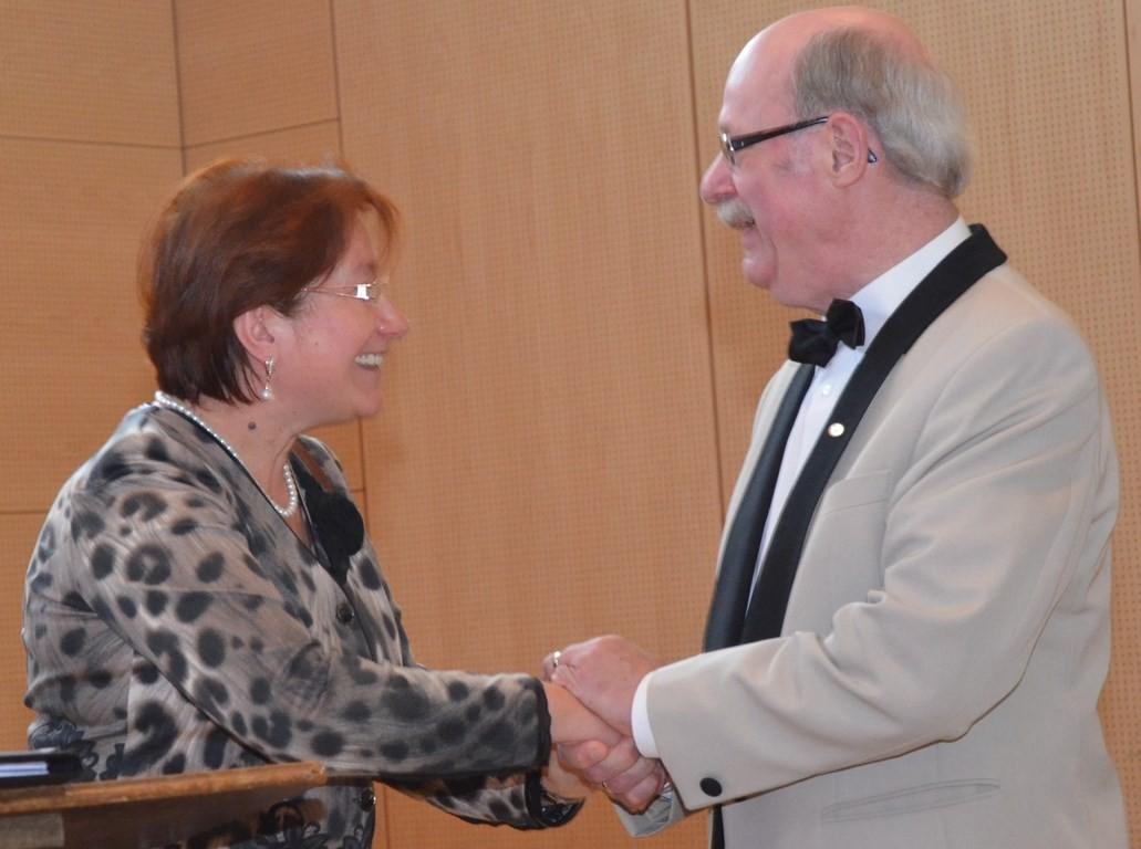 Die Chorleiterin des Landfrauenchores Ludmilla Schmidt hielt eine humorvolle Ansprache