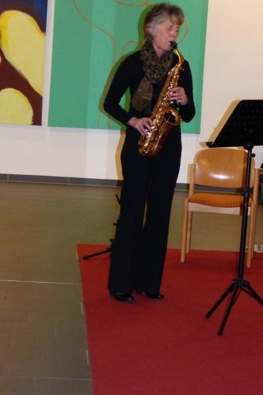 Eva Hilbert-Schwär am Saxophon
