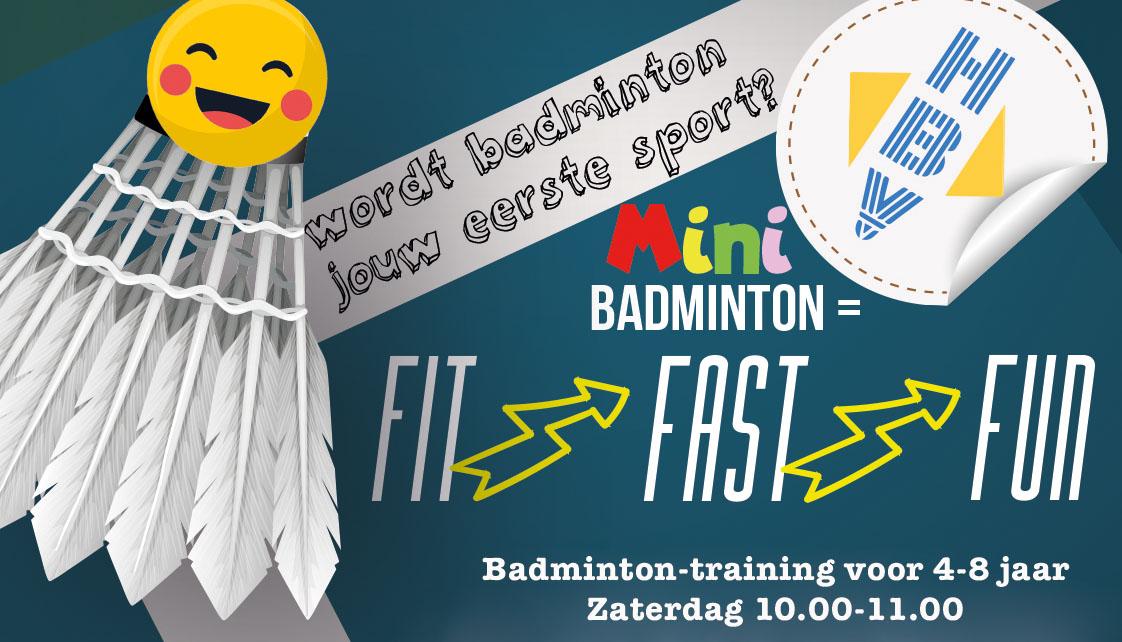 Badminton Mini Training bij HBV