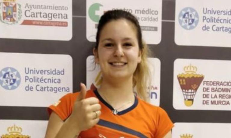Megan Hollander in actie in Spanje