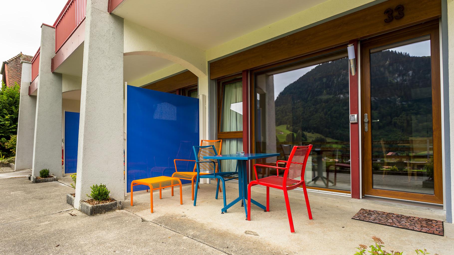 Chaque studio a une terrasse