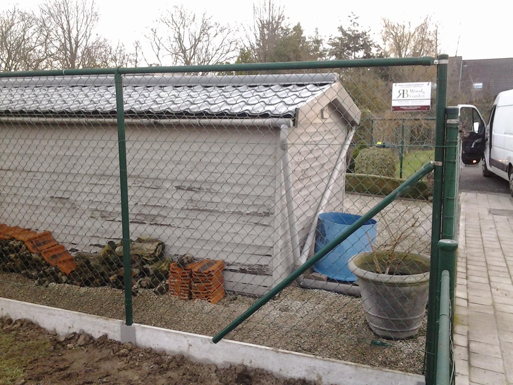 afsluiting oprit tuinhuis terras tuinhuis carport. Black Bedroom Furniture Sets. Home Design Ideas