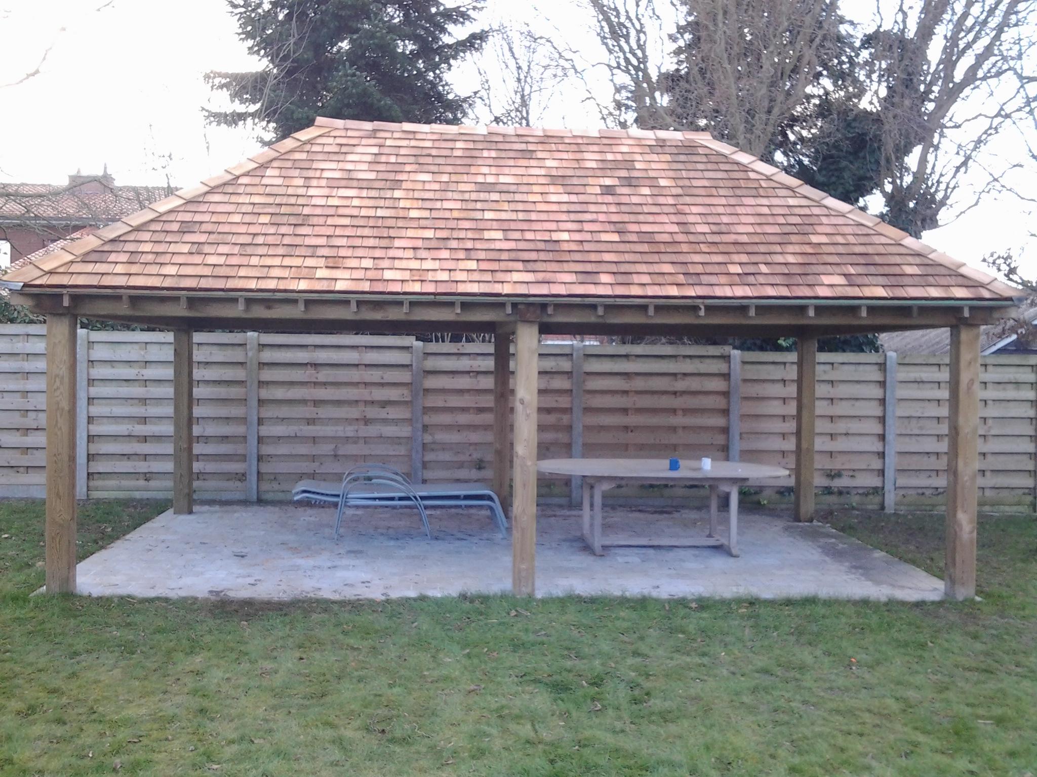 Overdekte terrassen tuinhuis carport terras afsluitingen - Overdekt terras tegel ...
