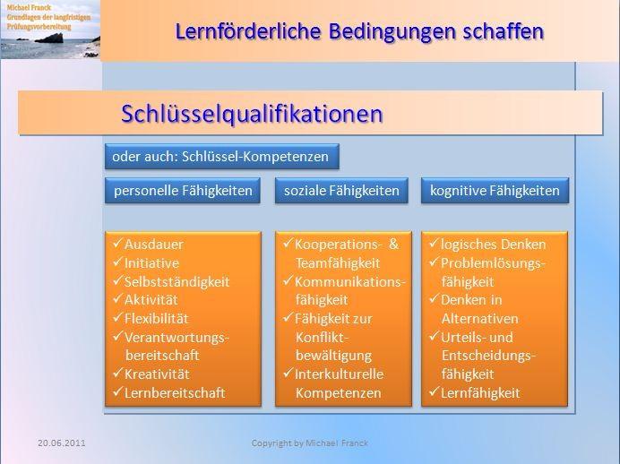 beispiele aus inhalten des workshops grundlagen des lernens - Schlusselqualifikationen Beispiele