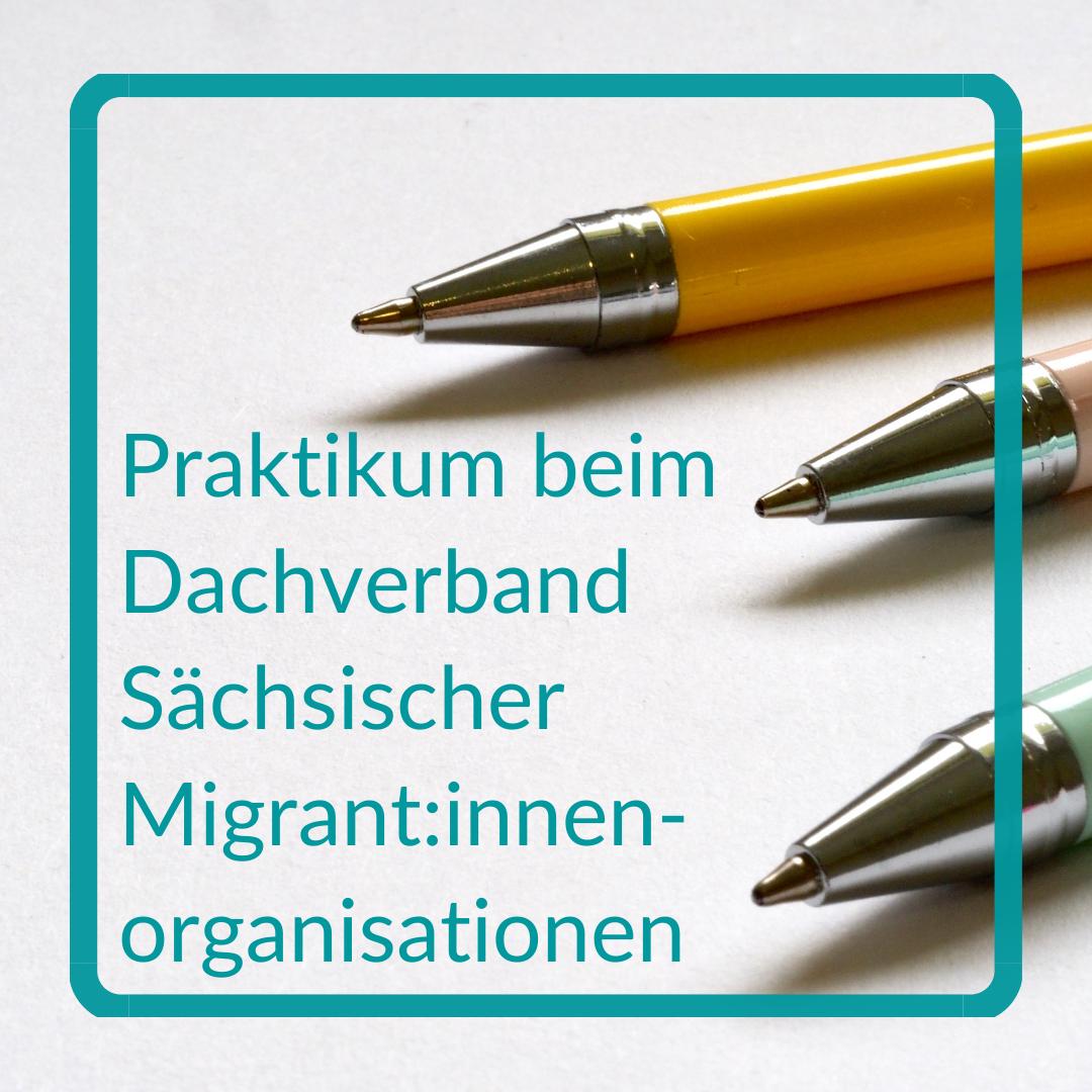 Praktikum beim Dachverband Sächsischer Migrant:innenorganisationen