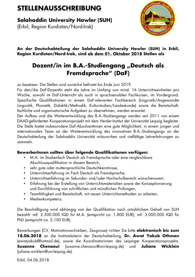 weltweit   FSR Fachschaftsrat DaF DaFZ Deutsch als Fremdsprache