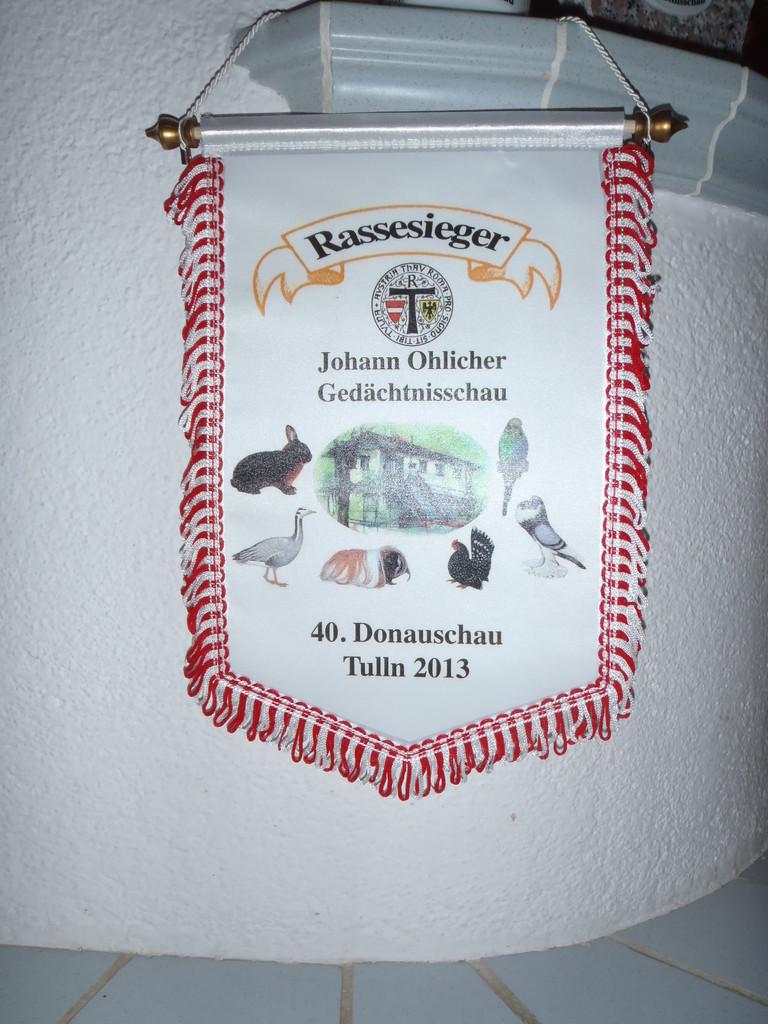Siegerband für den Rassesieg , Donauschau Tulln