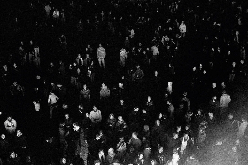 © Julia Knabbe, crowd phenomena, black and white photo, 100 x 70 cm , 2011