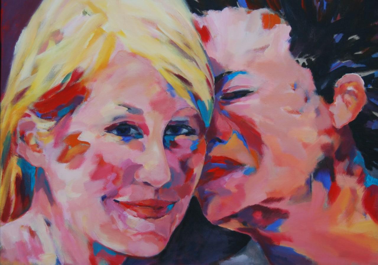 Der Kuss - Acryl / Lw - 50 x 70 cm