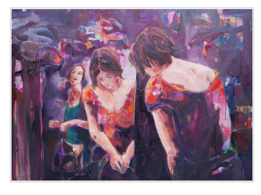 Reflexzone, 2015, Öl auf Leinwand, 100 x 140 cm