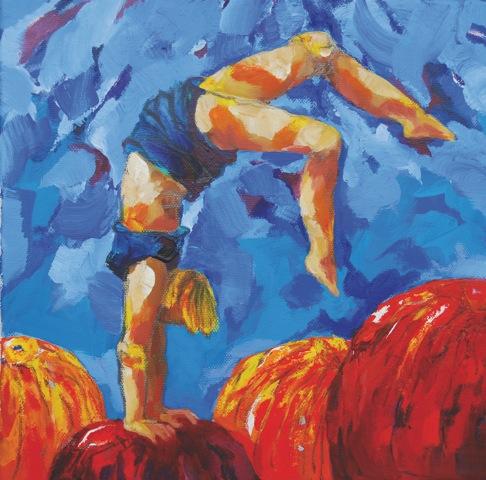 Manege 14.1, 2014, Acryl auf Leinwand, 30 x 30 cm