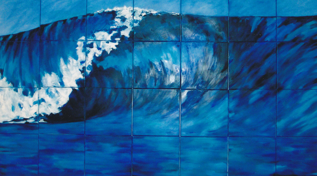 Surfer´s Paradise - 2002 - Öl / Lw - 28-tlg. 160 x 280 cm