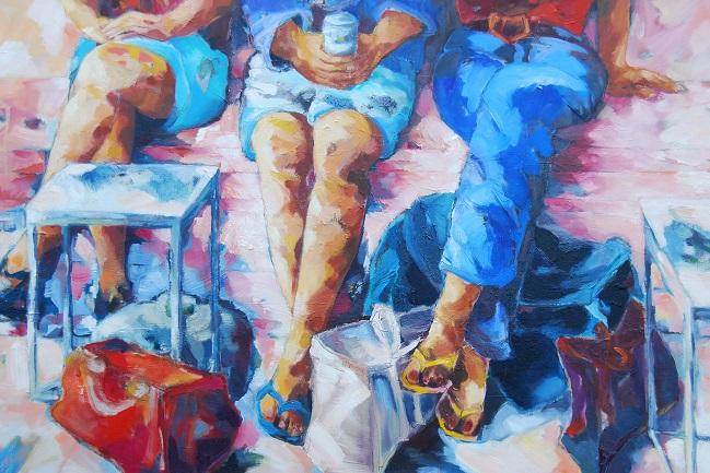 Shop till you drop, 2016, Öl auf Leinwand, 80 x 120 cm