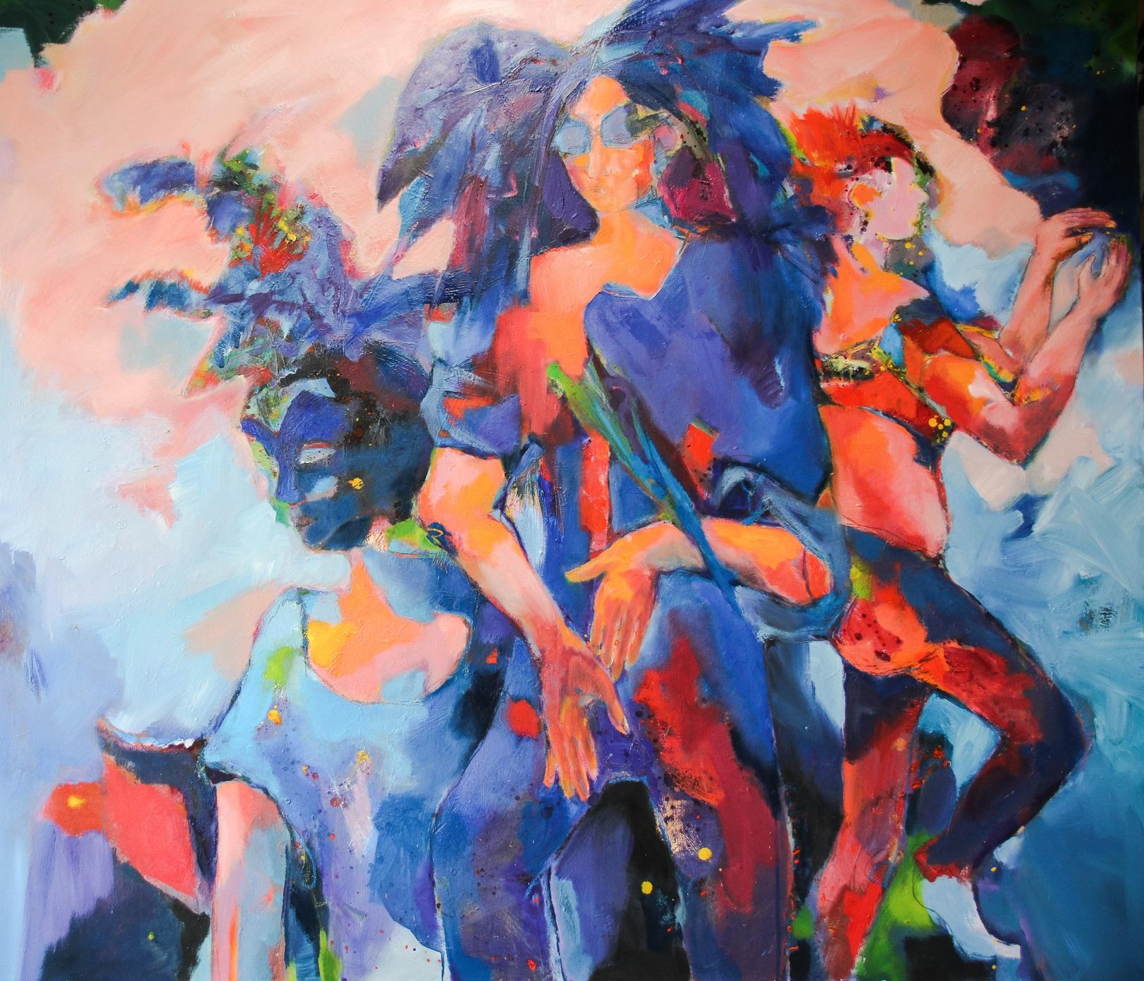 Karneval, 2019, Öl auf Leinwand, 120 x 140 cm