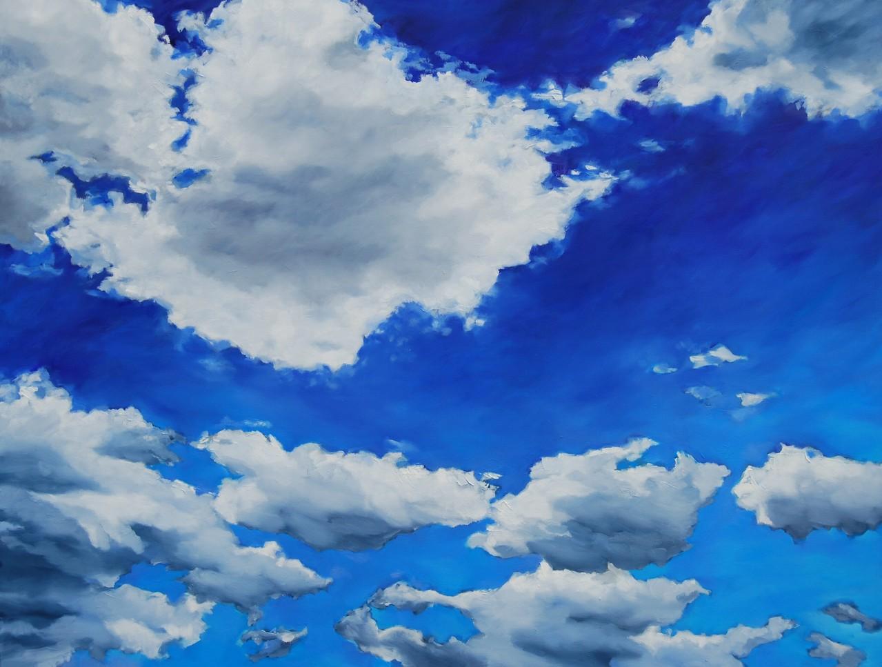 Clouds III ( oder  der Himmel über uns III ) - Öl / Lw - 120 x 160 cm