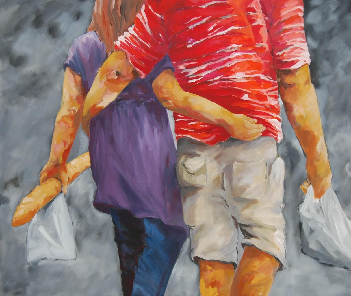 An einem Sonntagmorgen - Acryl / Lw - 100 x 120 cm