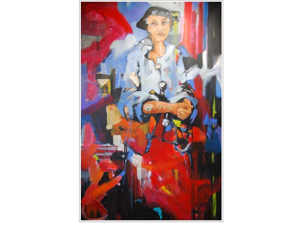 Anni, 2019, Acryl auf Leinwand, 195 x 124 cm