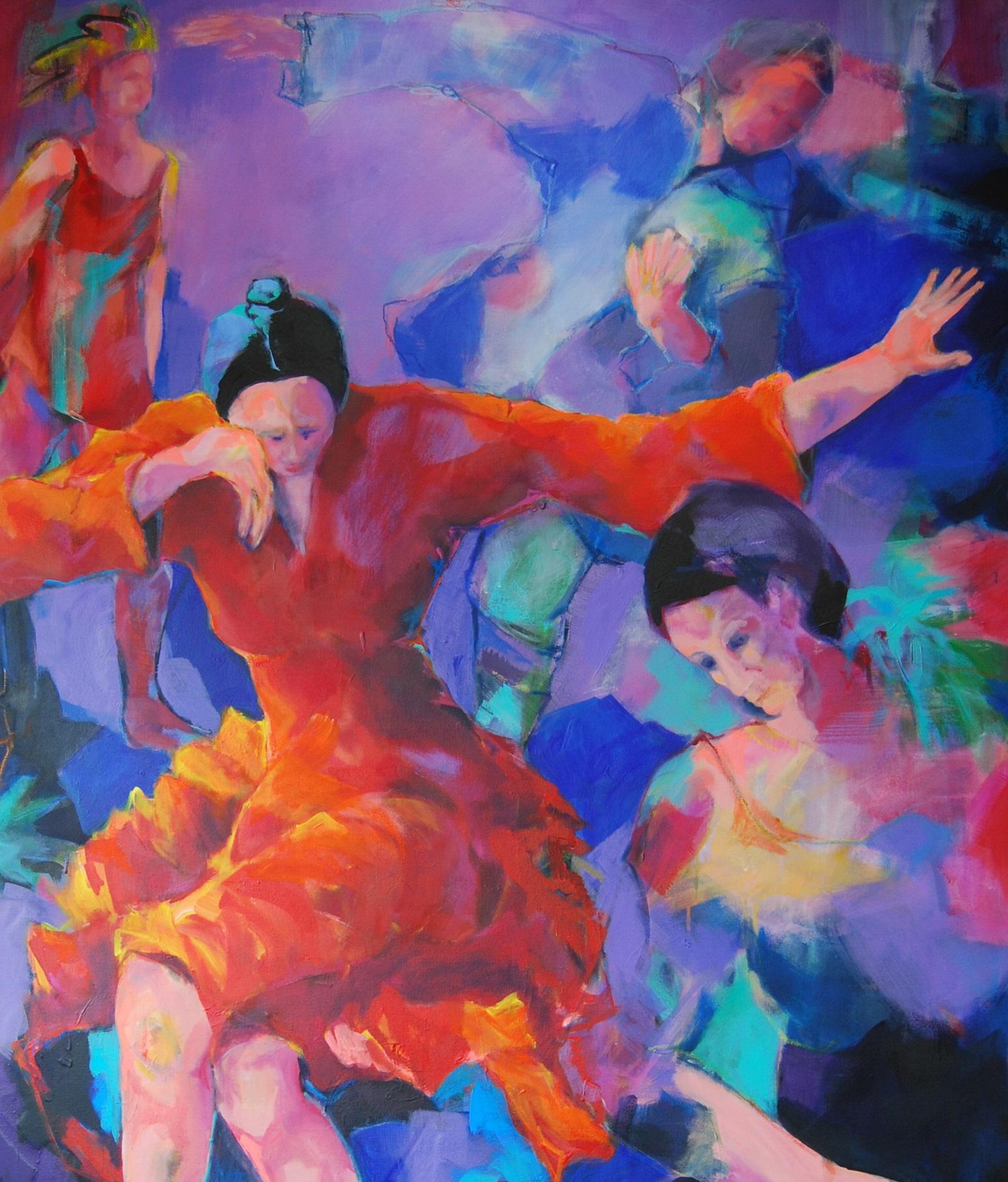 Dance and feel free 1 (Ausschnitt), Acryl auf Leinwand, 200 x 150 cm
