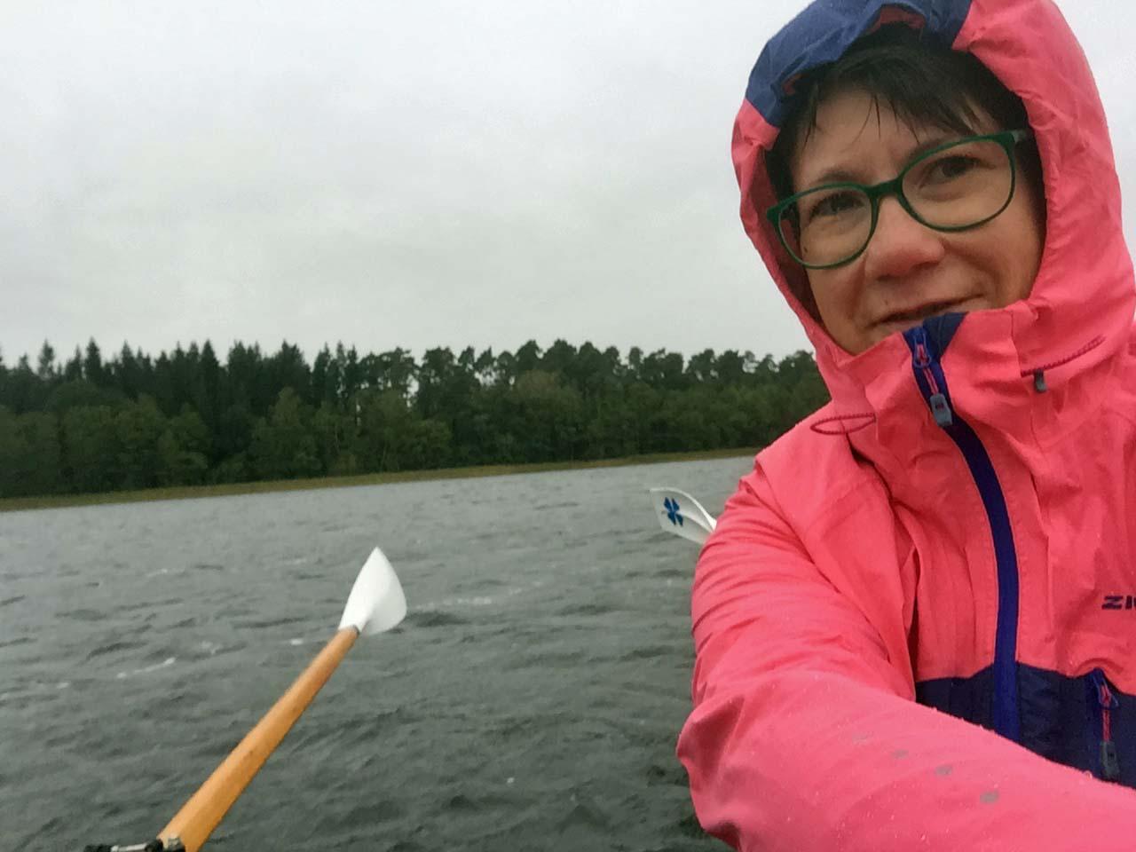 Regen-Selfie.