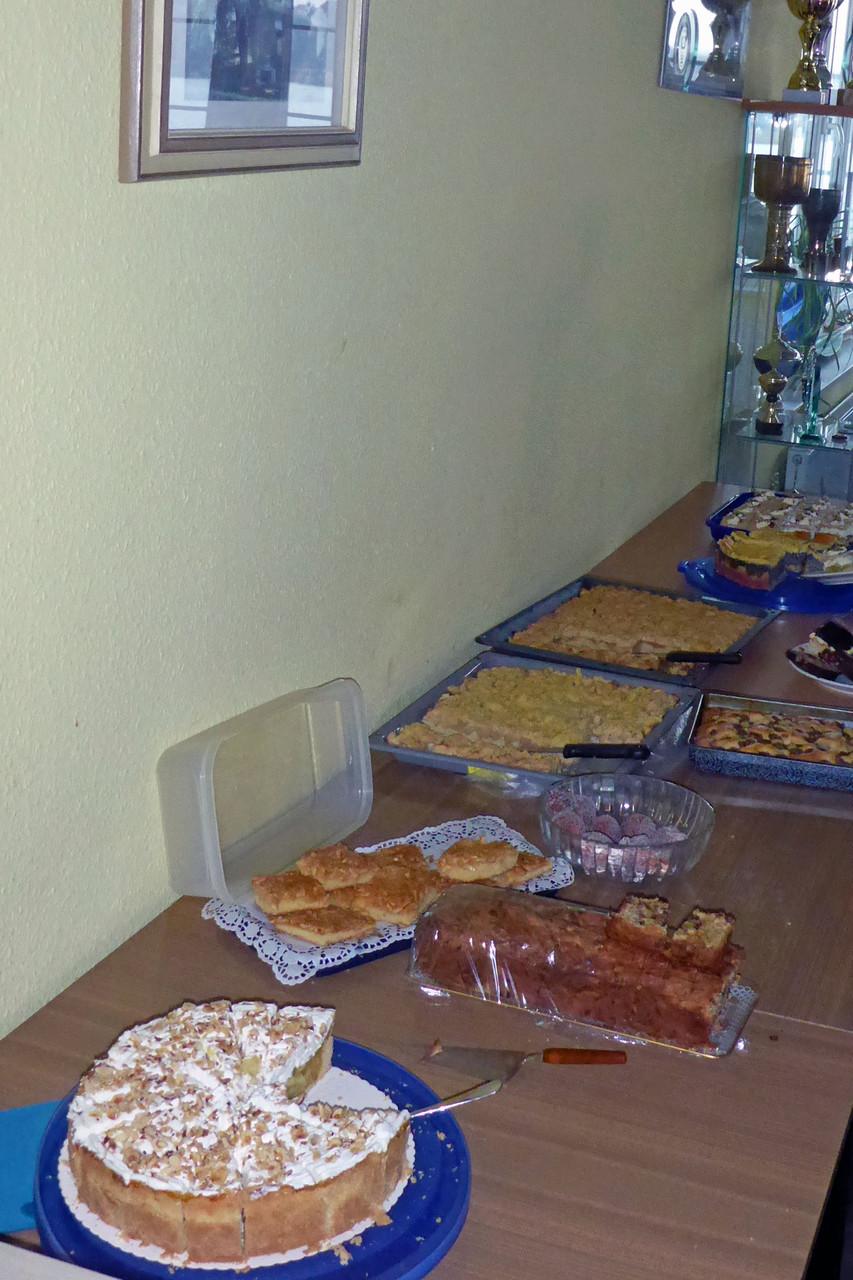 Krönender Abschluss - das leckere Kuchenbuffet!