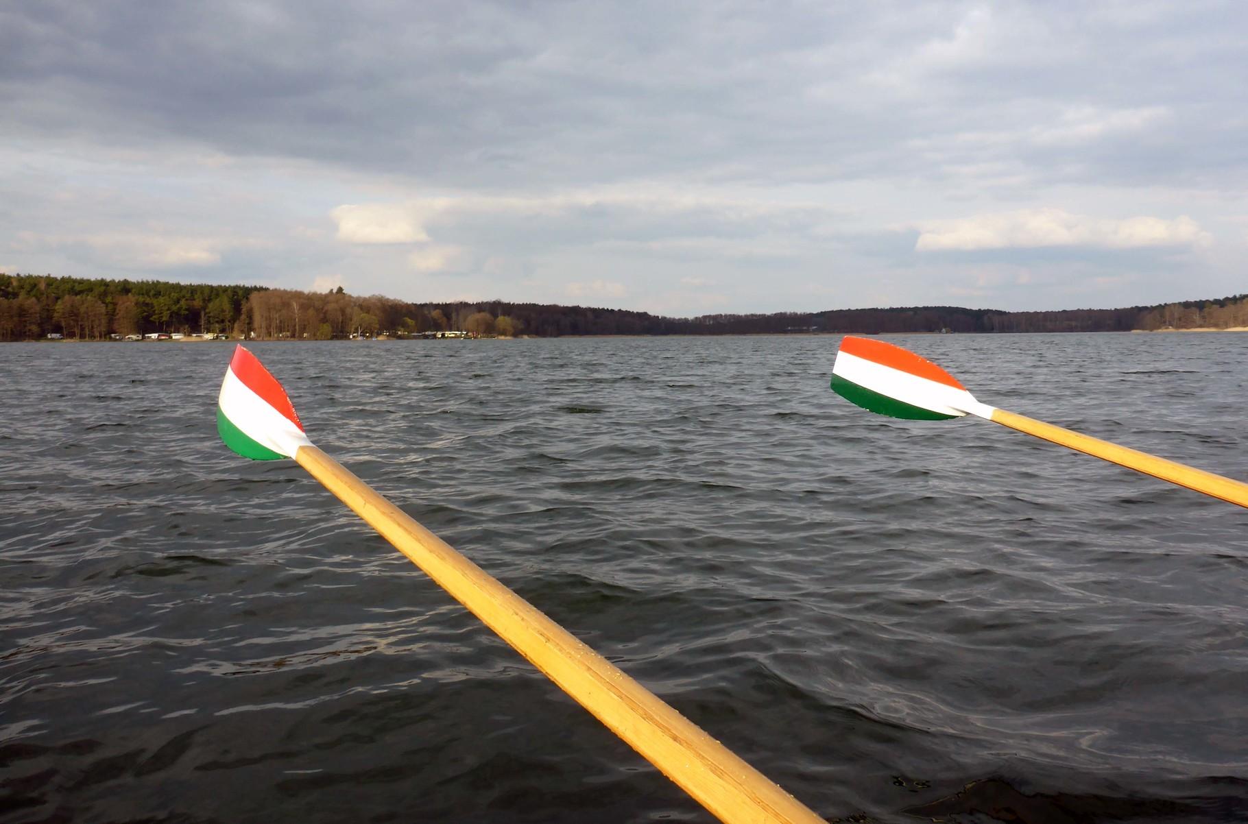 Segelwetter auf dem Großen Zechliner See.