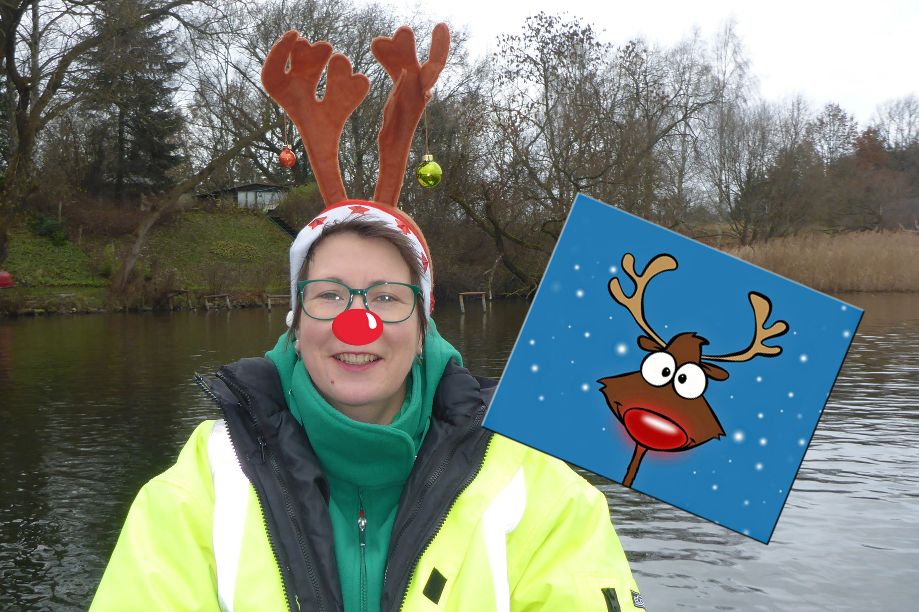 Rudolph with your nose so bright, won't you guide my boat tonight?