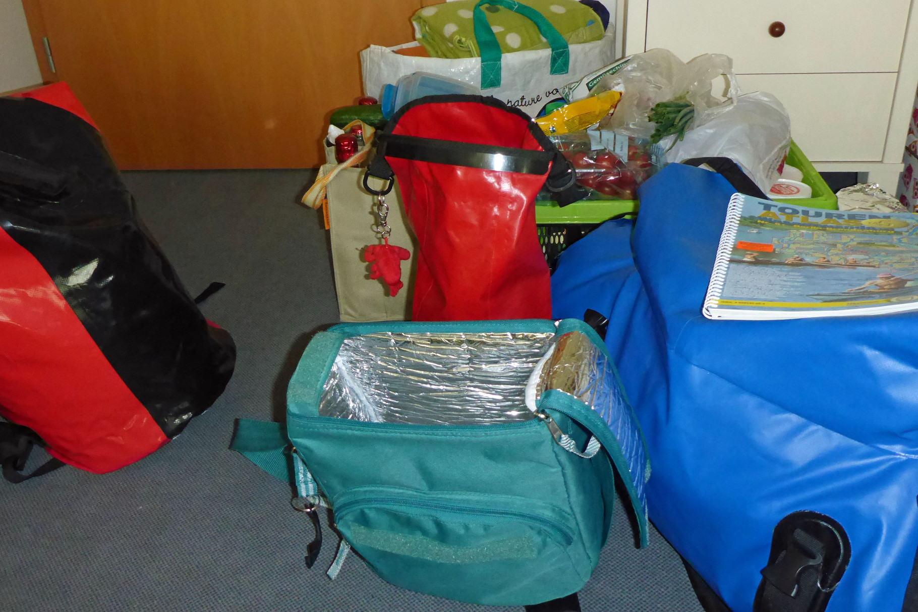 So viel Gepäck muss mit - x6!