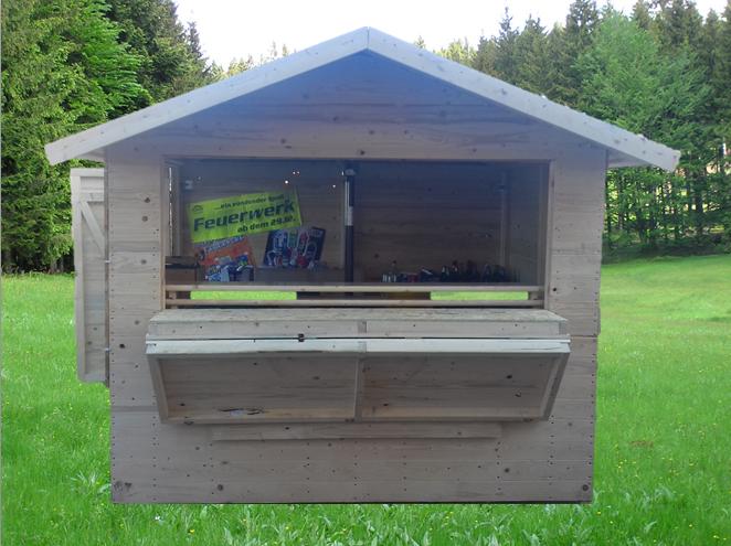 Holzhütte - Verkaufsstand -