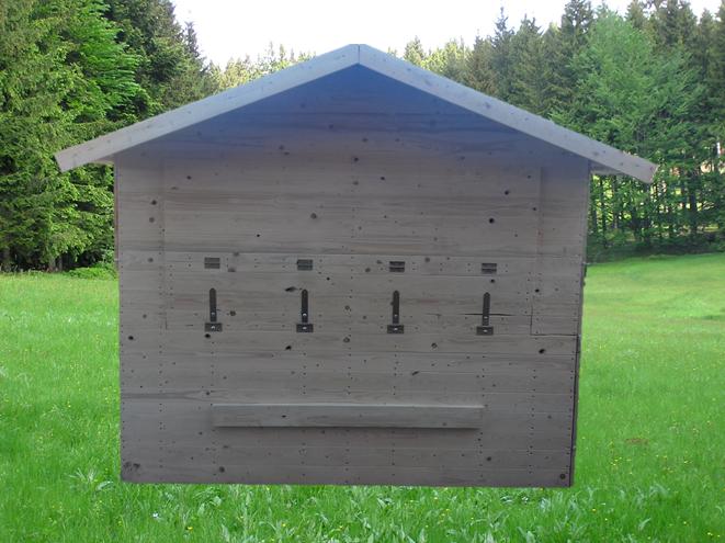 Holzhütte - Verkaufsstand