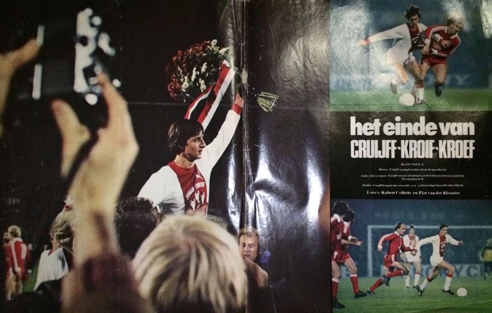 Bizar.. Artikel uit m'n archief, 'het einde van Cruijf' - de voetbalcarrière dan.