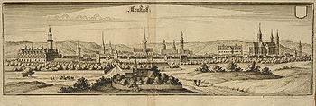 Arnstadt um 1650
