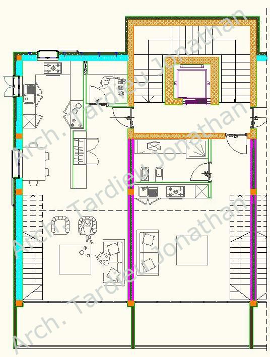 Planimetria piano 1 appartamento duplex - Struttura laterocemento (Scala 1:50)