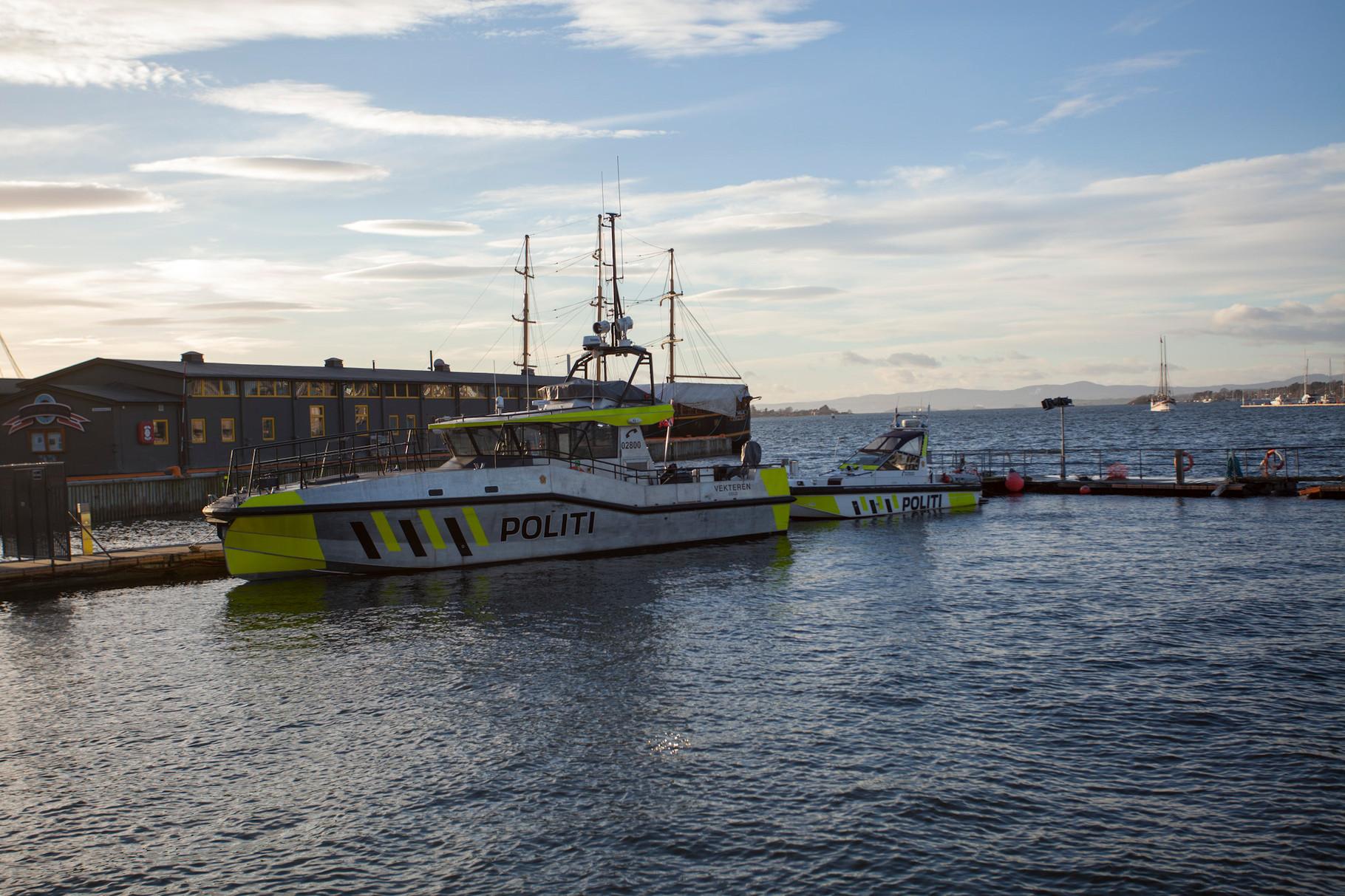 Port d'Oslo - Police marine