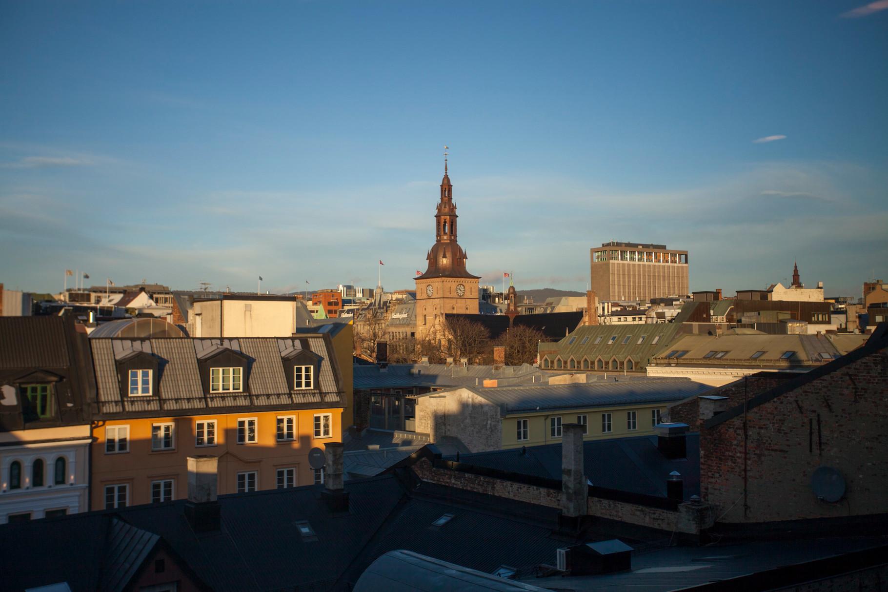 Vue sur la Cathédrale d'Oslo