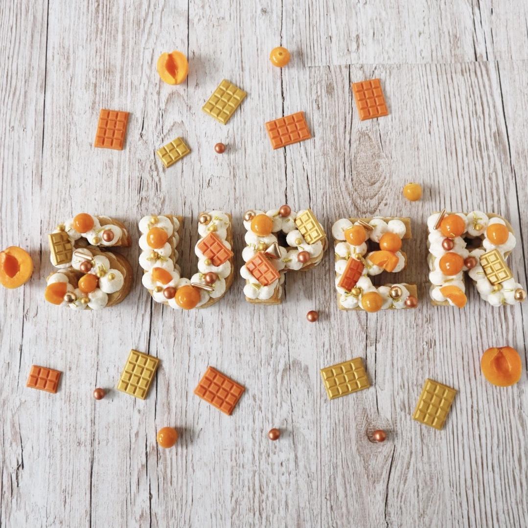 Mini Letter Cakes - SuperStreusel Backchallenge