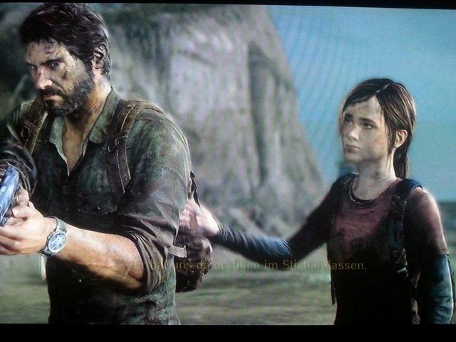 ..aber Ellie beruhigt ihn