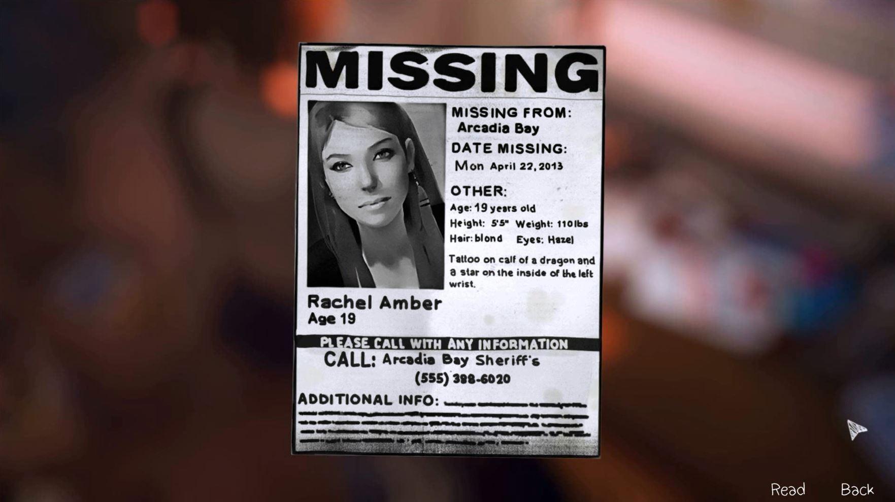 Die verschwundene Rachel Amber